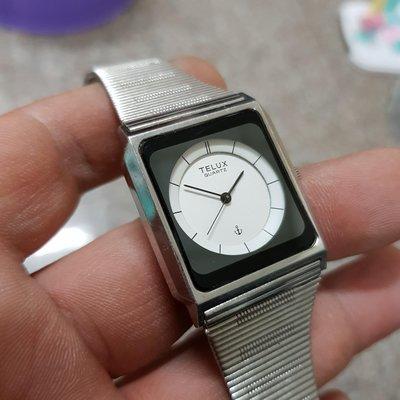<深盆面>鐵力士 日本 美品 TELUX  紳士 男錶 方型錶 2.7/18.5 石英錶 漂亮 老錶 A2 另有 女錶 中性錶 勞力士 浪琴 潛水錶 水鬼錶