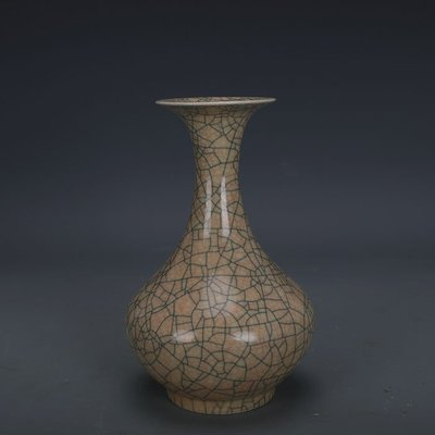 ㊣姥姥的寶藏㊣ 宋代哥窯金絲鐵線支釘賞瓶  出土文物古瓷器古玩古董收藏復古擺件