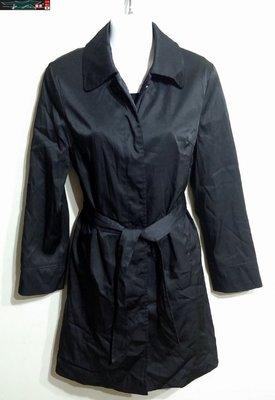 【J&K嚴選】MA TSU MI 瑪之蜜 女款 風衣 外套 百搭款-顏色黑【特價】阿帕契