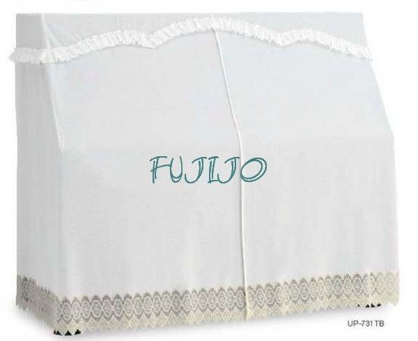 ~FUJIJO~日本存貨款~日本限定販售【高音譜記號】日本製 全罩鋼琴防塵套/全罩琴罩 鋼琴罩