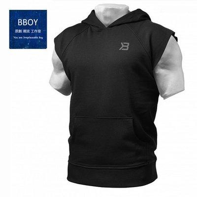 BBOY肌肉兄弟連帽運動背心健身跑步訓練