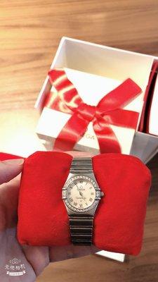 OMEGA 歐米茄星座系列石英鑲鑽女錶