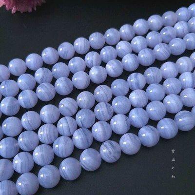 【靈石之約 】天然原礦 巴西藍紋瑪瑙 8.5mm 條珠/串珠 半成品 手工diy材料配件 水晶批發