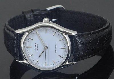 深水埗門市 全新 有保養正貨 皮帶錶 指針 條字面 黑面 / 白面 Casio MTP-1094E-7E