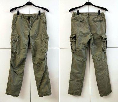 GAP 美國休閒品牌 Lived-in slim 軍綠 多口袋 休閒工作長褲 (W30)