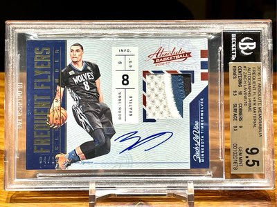 Zach LaVine 限量10張 Patch球衣簽名卡 BGS鑑定 2016 Panini Absolute Frequent Flyer Prime /10