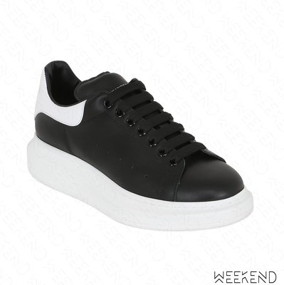 【WEEKEND】 ALEXANDER MCQUEEN MCQ 皮革 厚底 休閒鞋 黑色+白 男款