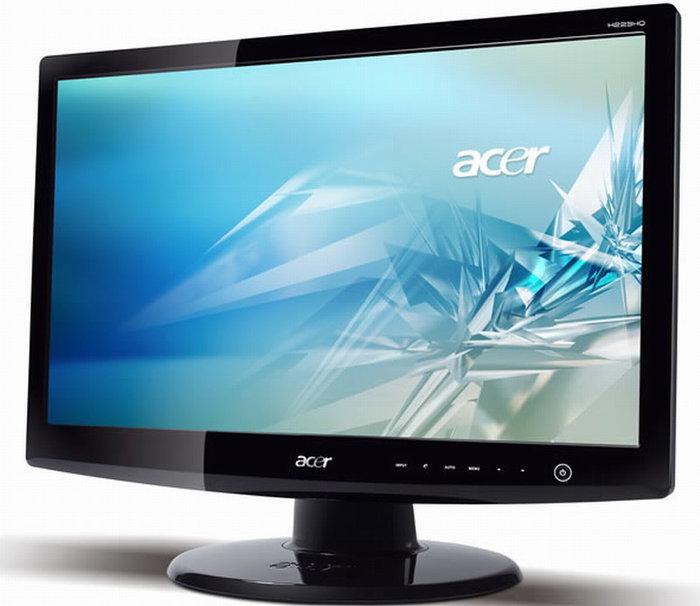 Acer 宏碁 H223HQ 22吋 LED螢幕、 D-SUB、DVI、HDMI輸入介面、螢幕多一層抗藍光無砷強化玻璃