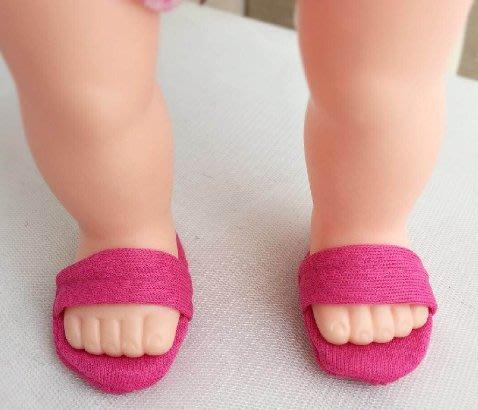 【小黑妞】小美樂巧虎小花可穿衣服服飾---小美樂可穿布料拖鞋,可搭配泳裝或睡衣(不含娃娃及身上衣服)