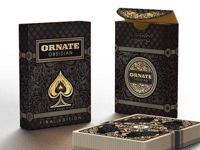 【USPCC撲克】unbranded Ornate Obsidian shadow edition
