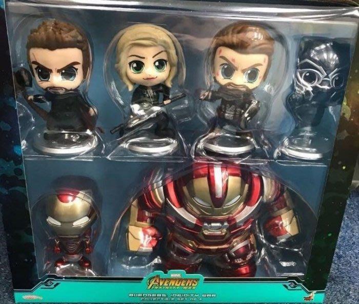 全新 Hot Toys Cosbaby 復仇者聯盟 終局之戰 浩克毀滅者組 Hulkbuster 一組六款