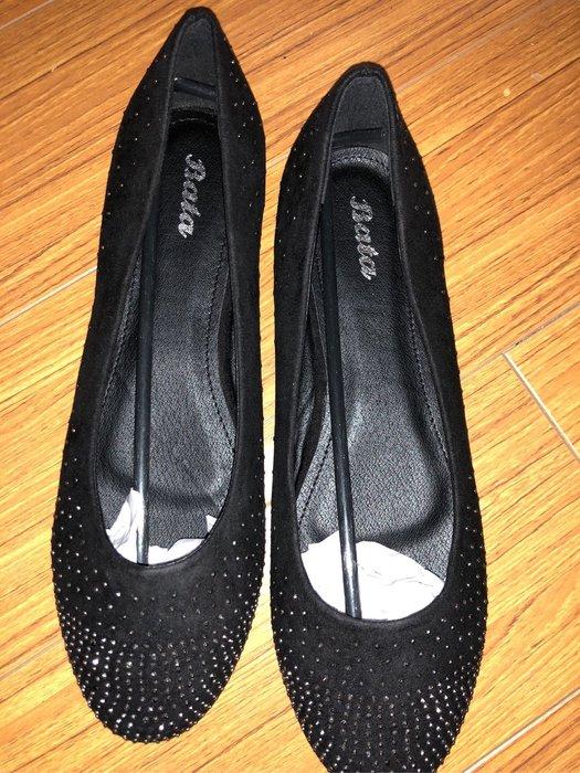 $$$國外帶回Bata鑲亮片鑽平底鞋size:8兩色可選:黑色跟深藍色