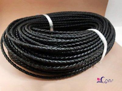 [皮舖子]【30公分】【9mm 編織 圓皮繩 170014】(牛皮繩)