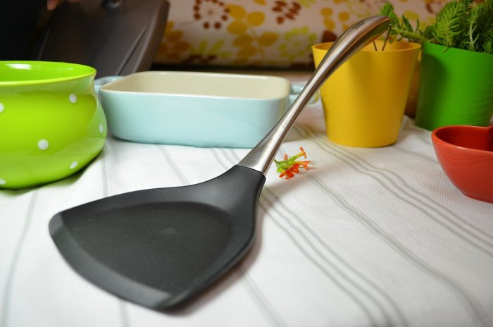 矽膠耐熱鍋鏟+304無毒不鏽鋼手柄-矽膠鍋鏟 煎匙 鍋具 廚具 不沾鍋 煎鏟-矽膠材質 耐冷耐熱 環保無毒