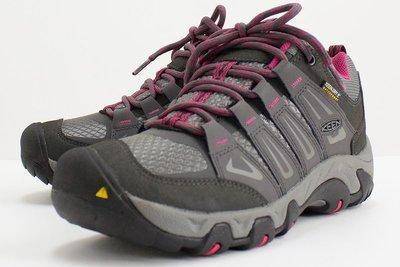 =CodE= KEEN OAKRIDGE WP 防水皮革戶外登山鞋(灰紅)1015359 靴子 WATERPROOF 女