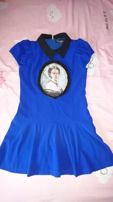 MAX GEELSS 寶藍色經典款連身裙/公主款洋裝(102)