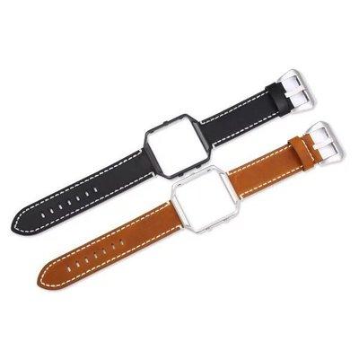 【Insist】Fitbit Blaze智能手環三星Gear S3 更換表帶腕帶頭層牛皮表帶錶框
