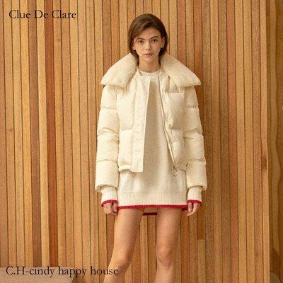 C.H.-cindy happy house韓國Clue DeClare品牌韓製鵝絨100%白外套191027-10代購