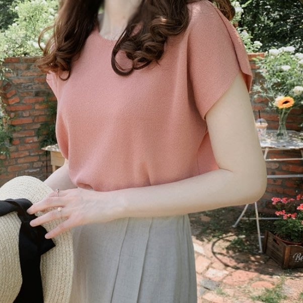 Bellee  正韓 舒適款 包袖薄針織上衣 (4色) 【J196209】 預購