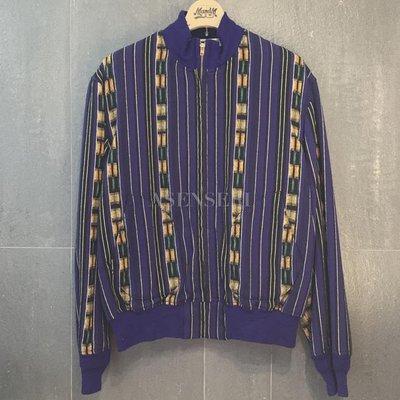 ✞ASENSERI✞ TENDERLOIN T-GTM JKT ZIP 經典民族風格條紋外套