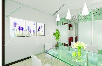 【50*50cm】【厚1.2cm】紫色小花-無框畫裝飾畫版畫客廳簡約家居餐廳臥室牆壁【280101_465】(1套價格)