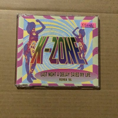 *還有唱片三館*K-ZONE / LAST NIGHT A DEEJAY SAVED 二手 YY0086