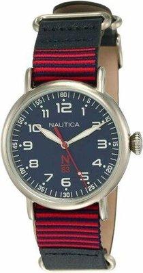 Nautica中性手錶 NAPWLS902 Wakeland 40毫米藍色錶盤皮革手錶