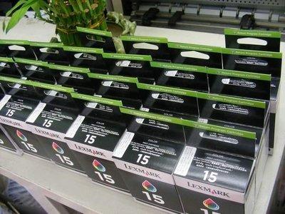 ☆呈運科技☆Lexmark 15 原廠標準彩色Lexmark 18C2110A Z2300/z2310/z2320/X2
