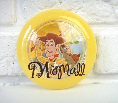 ♥購於日本♥迪士尼總動員 伍迪黃色立體浮雕甜甜圈隨身鏡♥可愛到不行