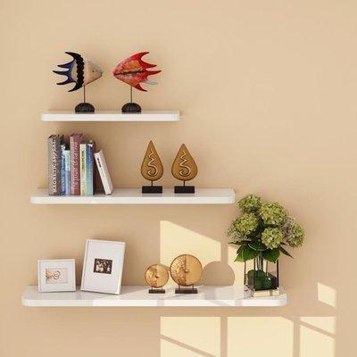 ZIHOPE 現代簡約墻上置物架一字隔板創意客廳壁掛置物架電視背景墻裝飾架ZI812