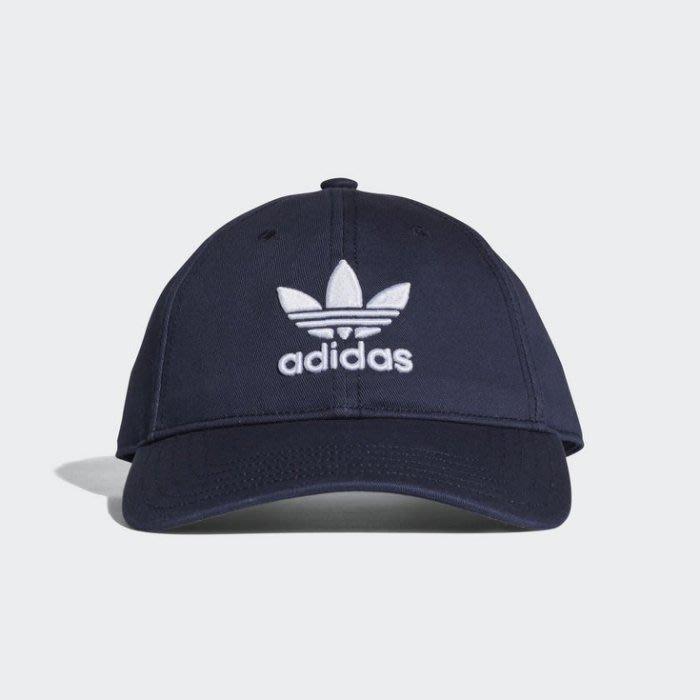 ADIDAS ORIGINALS Trefoil 深藍 三葉草 電繡 經典 復古帽 老帽 CD6973