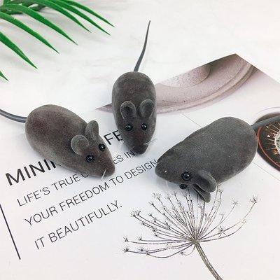 仿真絨毛小老鼠 擺件 擺飾 老鼠 玩具 發聲玩具 裝飾 辦公室小物 嚇人 整人【葉子小舖】