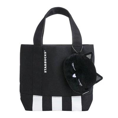 ☞Mr GoodStuff☜ Starbucks 星巴克 2018 黑貓 萬用 提袋 零錢包 貓咪 萬聖節 萬聖