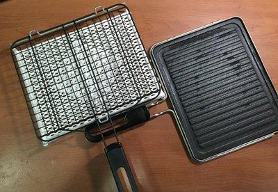 在家烤肉 燒烤無敵組(含陶瓷炭烤盤、日式陶瓷燒烤網)