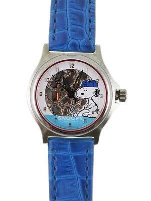 【卡漫迷】 六折出清 史奴比 手錶 皮革 藍色 庫1 ㊣版 高爾夫球 史努比 男錶 女錶 兒童錶 卡通錶 Snoopy