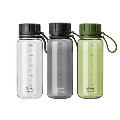 日本Rivers Stout Air隨行杯隨手杯 樹脂輕便運動水瓶旅行杯550ml 透明黑/550ml高端水壺
