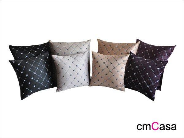 = cmCasa = [2785]低調視覺奢華設計 鑽網圖騰抱枕套 後現代奢華發行