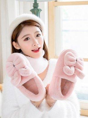 棉拖鞋女冬季包跟室內可愛卡通家居家情侶厚底毛絨月子棉鞋男冬天