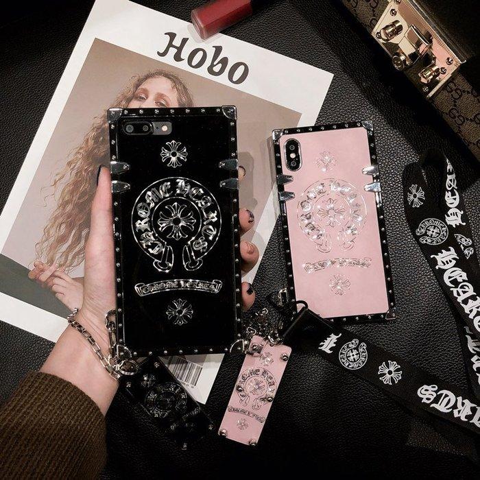 OPPO R15 R17 R11S R11 R9S PLUS 手機殼 歐美潮牌 克羅心鏡面 帶掛繩 奢華大氣 復古風格