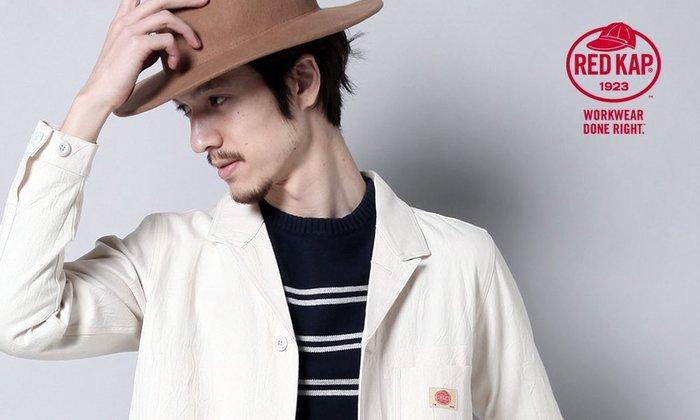 GOODFORIT / 工作品牌RED KAP日線純棉復古Logo風衣外套/米白(M)