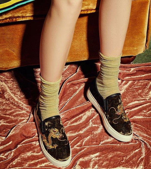 【鳳眼夫人】獨立設計品牌訂製款3色 龍寂 真皮奢華復古精工金龍刺繡厚底懶人鞋 歐美潮流時尚休閒厚底鞋鬆糕鞋增高鞋重工刺繡
