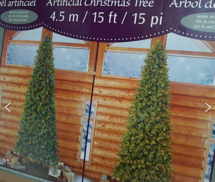 ASDF 15呎 LED 聖誕樹 1900233 2100顆 LED 好市多買的18年約4.5M 非12呎
