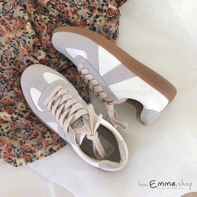 EmmaShop艾購物-正韓同步上新-復古經典厚底小白鞋/板鞋/包鞋/休閒鞋