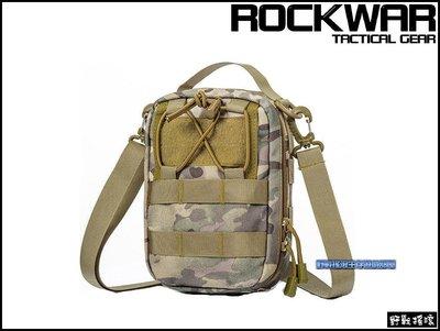 【野戰搖滾-生存遊戲】ROCKWAR 側背式戰術醫療包【MultiCam】多地形迷彩側背包急救包雜物包勤務包CP迷彩腰包 新北市