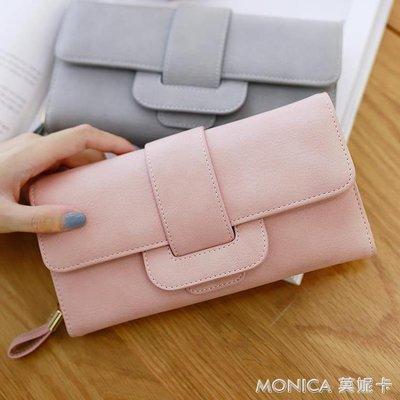 女士錢包新款女長款韓版小清新多功能簡約錢夾手拿包