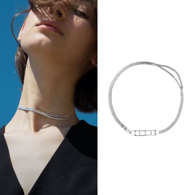 💎歐美小眾-knobbly以色列小眾分裂項鍊分層簡約choker鎖骨鏈925純銀針