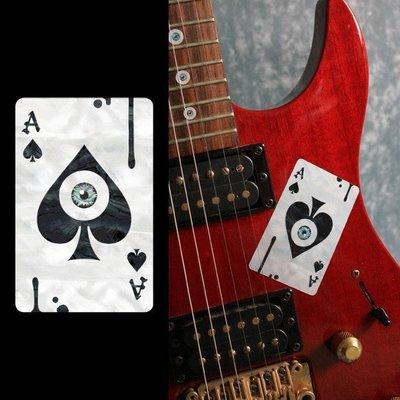 園之屋 現貨 日本 Inlay sticker 神秘ACE撲克 琴身貼紙 民謠吉他 電吉他 貝斯