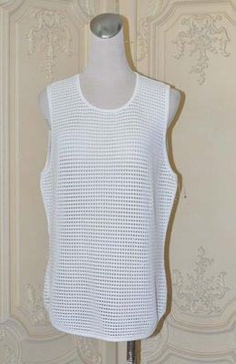 美國品牌TORN BY RONNY KOBO 白色鏤空背心罩衫 L