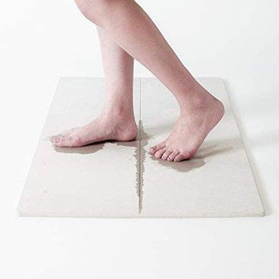 【日本小姐原廠】(尺寸L)日本 soil gem系列 更吸水 止滑 抗菌 珪藻土地墊 浴室腳踏墊