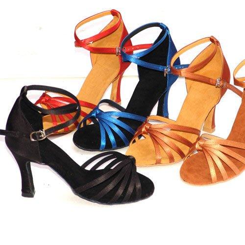 5Cgo【鴿樓】會員有優惠  6149038166 高跟軟底女鞋拉丁鞋舞蹈鞋舞鞋廣場倫巴恰恰鞋子 跟高7.5公分